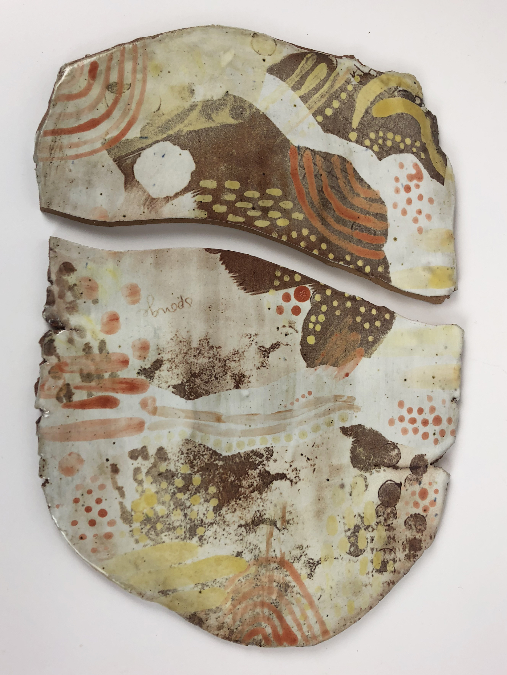 mixed media ceramic wall hanging