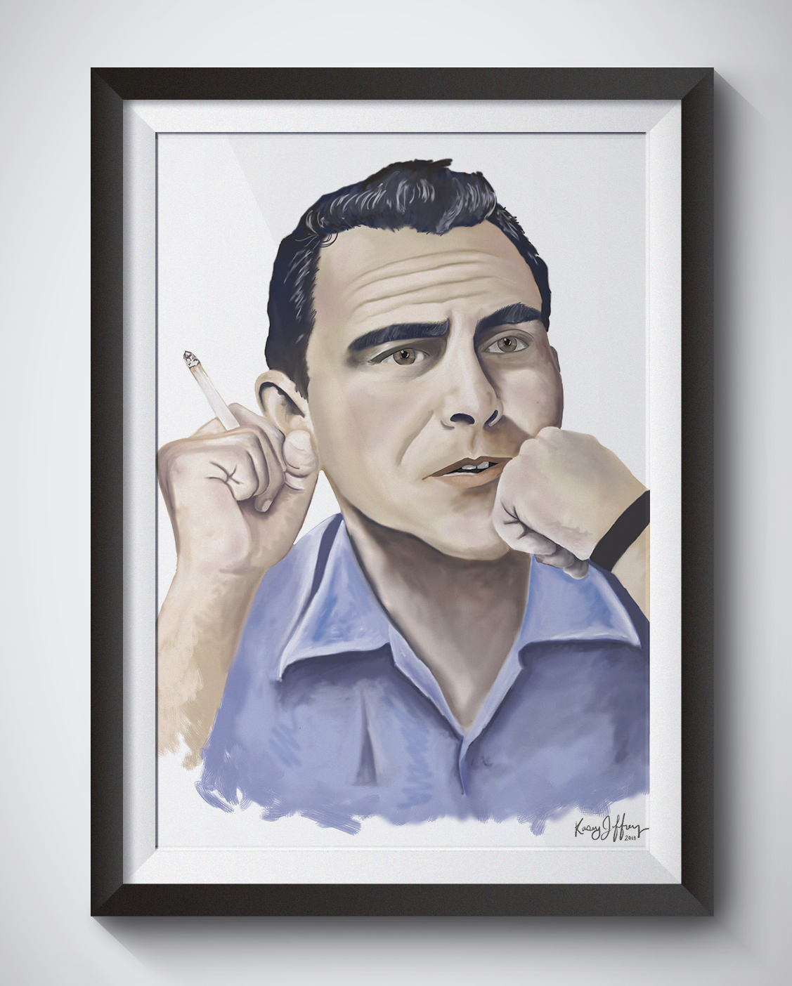 rod serling twilight zone portrait